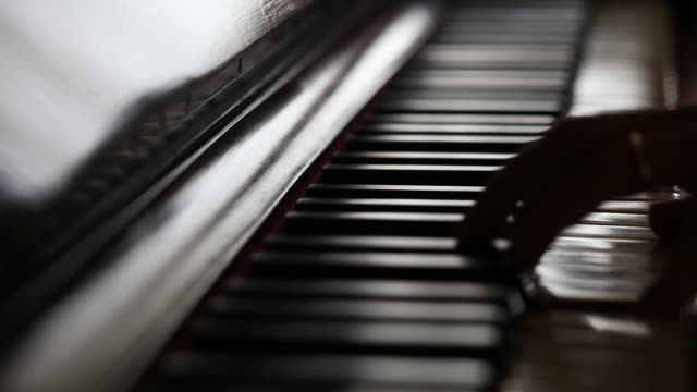 musician play piano - piano stock videos & royalty-free footage