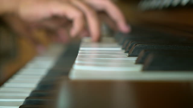 musician play piano - piano key stock videos and b-roll footage
