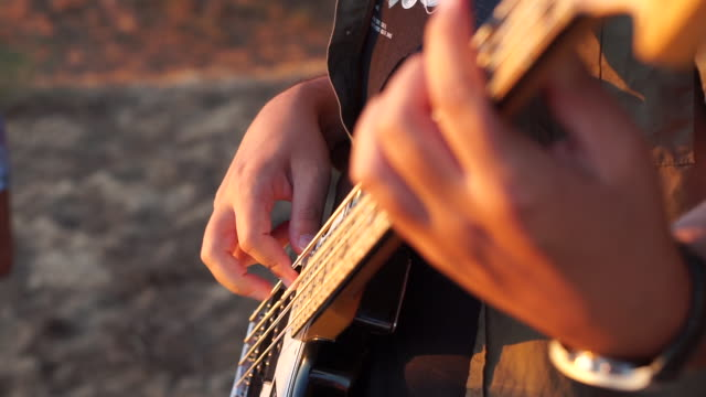 musician playing a bass guitar - rythm stock videos and b-roll footage