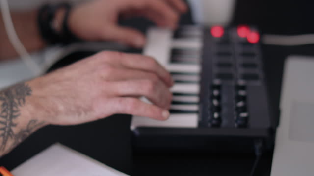 musician playing keyboard - musician stock videos & royalty-free footage