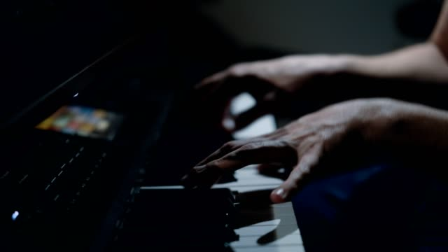 musician playing piano - composer stock videos & royalty-free footage