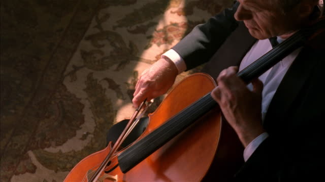 musician playing the cello - cellist stock videos & royalty-free footage