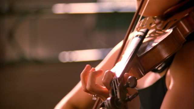 musician playing violin - musician stock videos & royalty-free footage