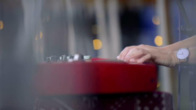 musician plays a synthesizer - pianist stock videos & royalty-free footage