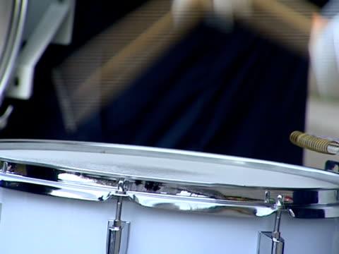 stockvideo's en b-roll-footage met musician plays the big drum. - drum