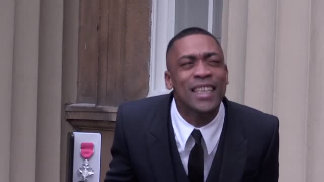 musician wiley is awarded an mbe and softcell frontman marc almond collects an obe both awarded for their services to music former british vogue... - order of the british empire stock videos and b-roll footage