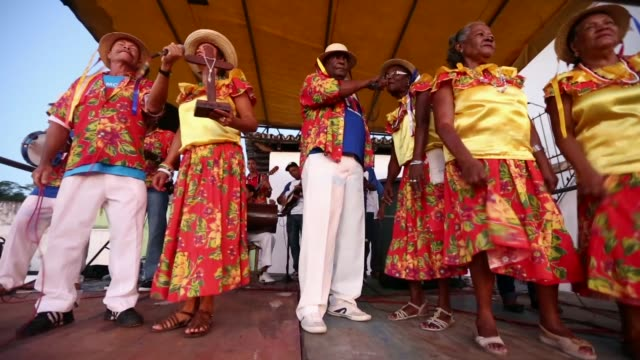 la ws musicians perform during the festival of the good death on august 15 2014 in cachoeira brazil the afrobrazilian festival put on by the... - cachoeira stock videos and b-roll footage