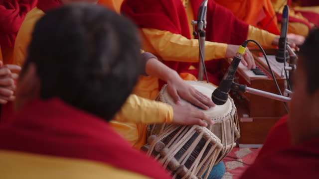 musicians play at temple - India