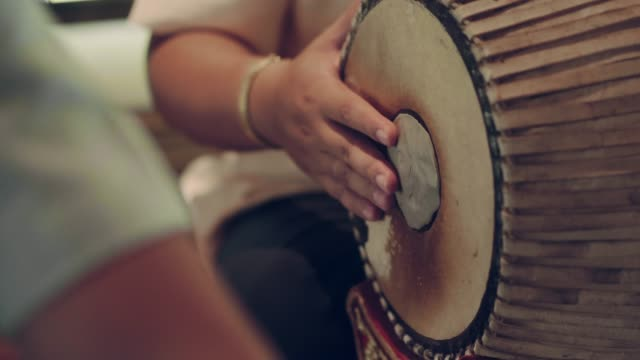 musicians play thai style drum - human body part stock videos & royalty-free footage