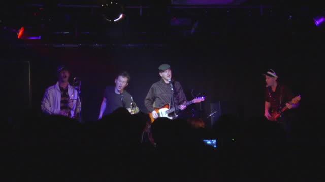 ws musicians playing on stage, london, england, uk - 金管楽器点の映像素材/bロール