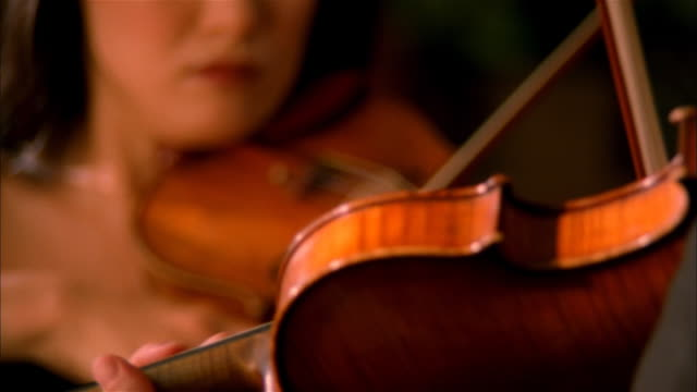 vídeos de stock, filmes e b-roll de musicians playing violins - performance
