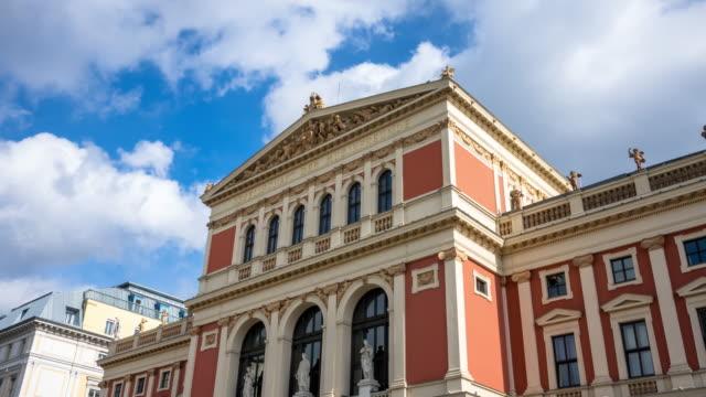musikverein vienna - concert hall stock videos & royalty-free footage