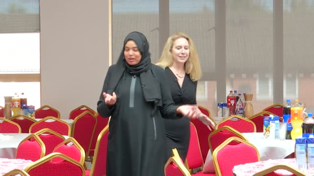 muslim community centre reopens six years on from arson attack with support from jewish community england london east finchley int asma mohamed ali... - finchley stock videos and b-roll footage
