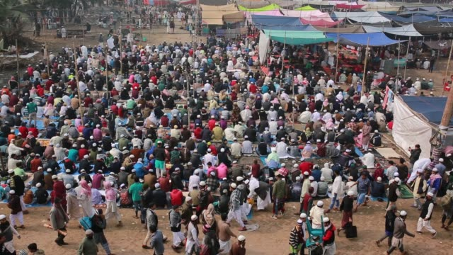 Muslim devotees attend 'Biswa Ijtema' the second largest religious gathering of Muslims in the world in Tongi 20 km from Dhaka Bangladesh on January...