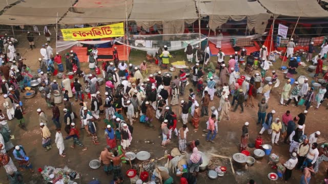 Muslim devotees cook lunch inside 'Biswa Ijtema' area the second largest religious gathering of Muslims in the world in Tongi 20 km from Dhaka...