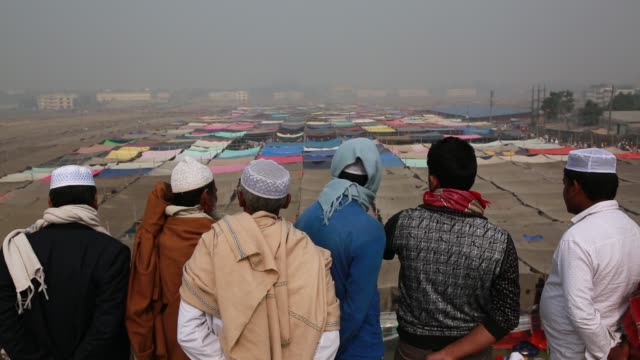 Muslim devotees gathered at Biswa Ijtema the second largest religious gathering of Muslims in the world in Tongi 20 km from Dhaka Bangladesh on...