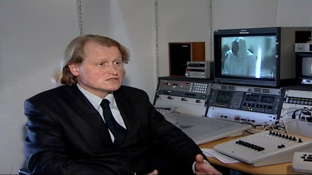 muslim extremist video uncovered england london gir int gavin millar interview sat in editing suite sot in both cases there is speech which could... - persuasion stock videos & royalty-free footage