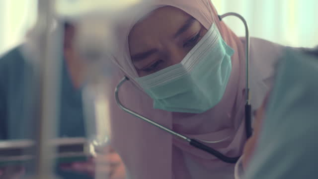 muslim female doctor work - ward stock videos & royalty-free footage