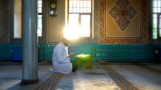 muslim man prays - mosque stock videos & royalty-free footage