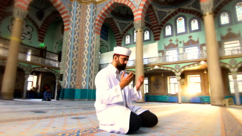 muslim man prays - hope concept stock videos & royalty-free footage