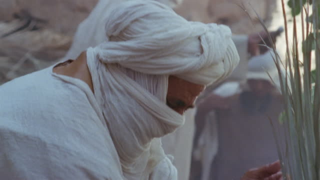 SLO MO CU RECREATION Muslim man washing arms during ritual purification ceremony / Iran