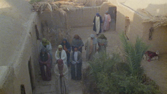 ws ha recreation muslim men entering courtyard and praying / iran - see other clips from this shoot 1007 stock videos & royalty-free footage
