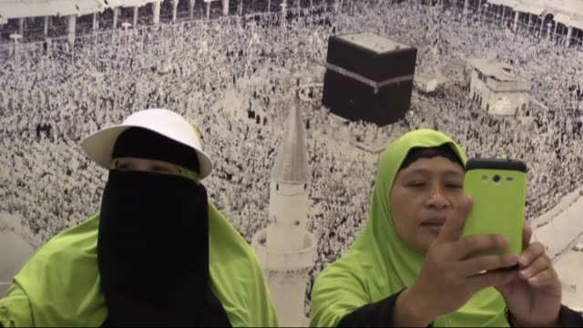 muslim pilgrims visit the museum on september 05 2016 in the saudi arabia holy city of mecca opened for public to inform people about life during the... - suit of armor stock videos and b-roll footage