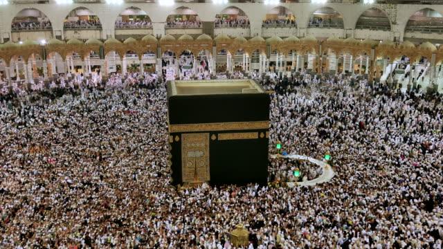 muslim playing hajj in saudi arabia - hajj stock videos & royalty-free footage
