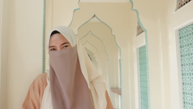 muslim thai young woman-stock video - headwear stock videos & royalty-free footage