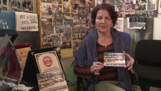 vídeos de stock, filmes e b-roll de muslim victims of bosnia's war sent postcards showing corpses taken from a mass grave to 5000 serb politicians on monday ahead of the anniversary of... - send