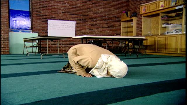 Muslim Woman at Prayer in Mosque