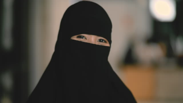 muslim woman in national clothes - religious dress stock videos & royalty-free footage