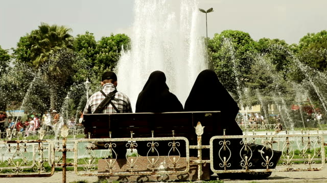 muslim women covered with veil