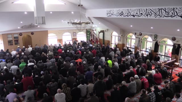Muslim worshippers perform the first Friday prayer of the holy fasting month of Ramadan at Thomastown Mosque on June 10 2016 in Thomastown Melbourne...