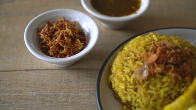 muslim yellow rice with chicken - chicken meat stock videos and b-roll footage