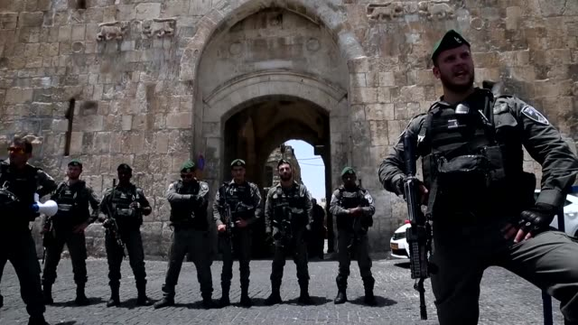 Muslims heeded calls Monday not to enter a Jerusalem holy site and protested outside after Israeli authorities installed metal detectors at entrances...