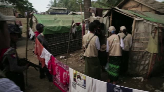 muslims living in sprawling camps because of communal violence in myanmars rakhine state voice their anger that they are barred from registering... - rohingya culture stock videos and b-roll footage