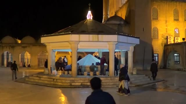 muslims observe the holy night of barat which is regarded as the night of forgiveness and salvation on april 19 2019 in sanliurfa turkey lailat al... - advent calendar stock videos & royalty-free footage
