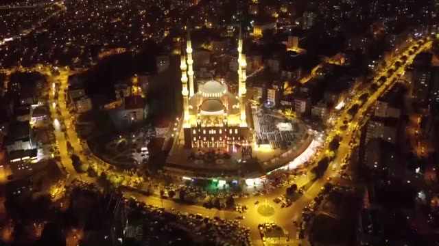 muslims observe the holy night of barat which is regarded as the night of forgiveness and salvation on april 19 2019 at abdulhamit han mosque in... - advent calendar stock videos & royalty-free footage