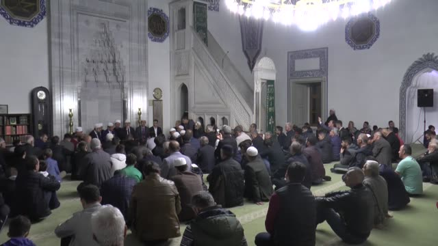 muslims observe the holy night of lailat al miraj marking prophet muhammad's nighttime journey from mecca to alaqsa mosque in jerusalem from where he... - muhammad prophet stock videos & royalty-free footage