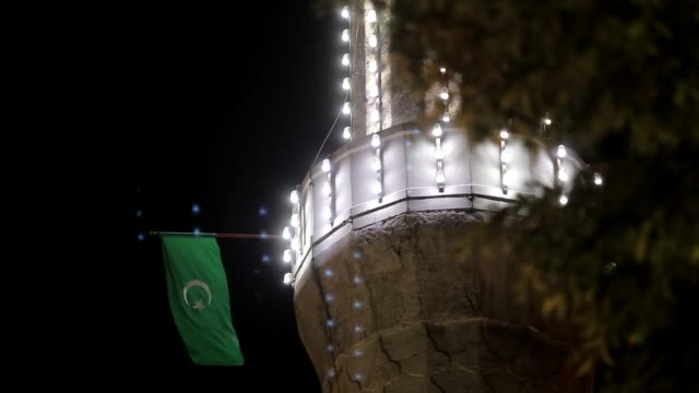 muslims observe the laylat al-qadr, the night in which the first verses of the holy quran were revealed to prophet muhammad at gazi husrev-bey mosque... - bosnia and hercegovina stock videos & royalty-free footage