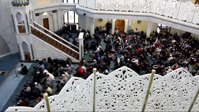 Muslims offer Eid alFitr prayers in Kazan the capital of the Russian Republic of Tatarstan on June 25 2017 Muslims around the world will celebrate...