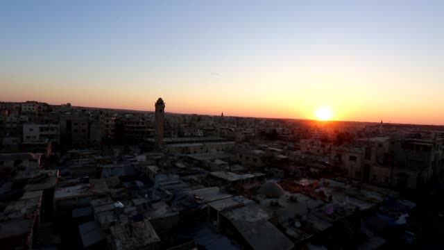 Muslims offer the Eid alFitr prayer at Umayyad Mosque in Idlib Syria on June 25 2017 Muslims around the world will celebrate the threeday Eid alFitr...