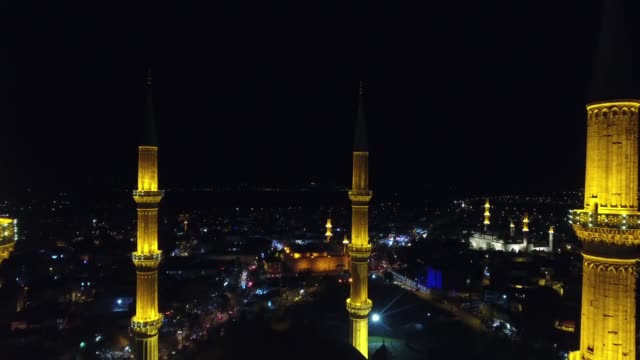 muslims pray at the selimiye mosque during the celebrations for mawlid alnabi birth anniversary of muslims' beloved prophet mohammad in northwestern... - muhammad prophet stock videos & royalty-free footage