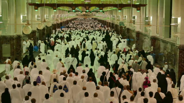 muslims prayer in mosque - saudi arabia stock videos & royalty-free footage