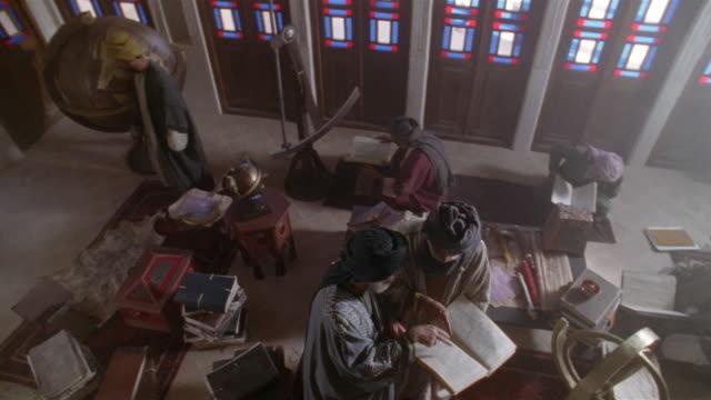 ms, cs, cu, muslims studying koran, iran  - koran stock videos & royalty-free footage