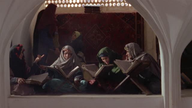 ms, cs, muslims studying koran, iran  - koran stock videos & royalty-free footage