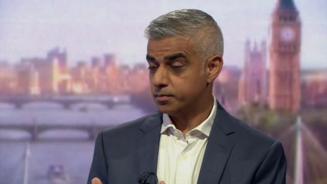 Must obtain permission from the Andrew Marr Show before licensing Sadiq Khan responds to a question about some of Donald Trump's comments about him...