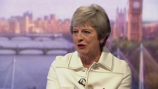 stockvideo's en b-roll-footage met must obtain permission from the andrew marr show before licensing theresa may says that the european court of justice's jurisdiction over the uk will... - andrew marr