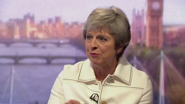 must obtain permission from the andrew marr show before licensing theresa may says that she has 'nonnegotiable' standpoints about free movement the... - theresa may stock videos & royalty-free footage